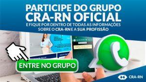 Participe dos grupos oficiais do CRA-RN
