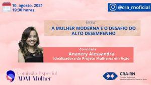 """ADM Mulher, discute """"A mulher moderna e o desafio do alto desempenho"""""""