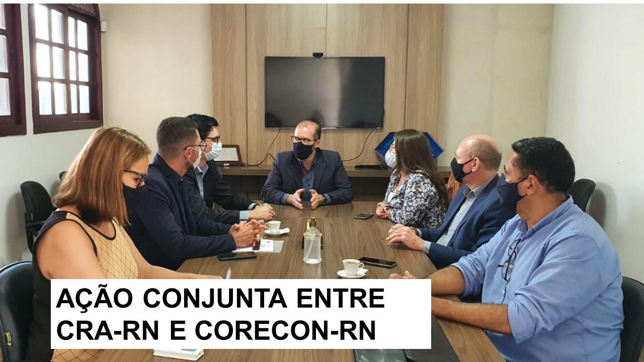 CRA-RN se reúne com representantes do CORECON-RN