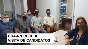 Candidatos a prefeito e vereador de Natal visitam CRA-RN