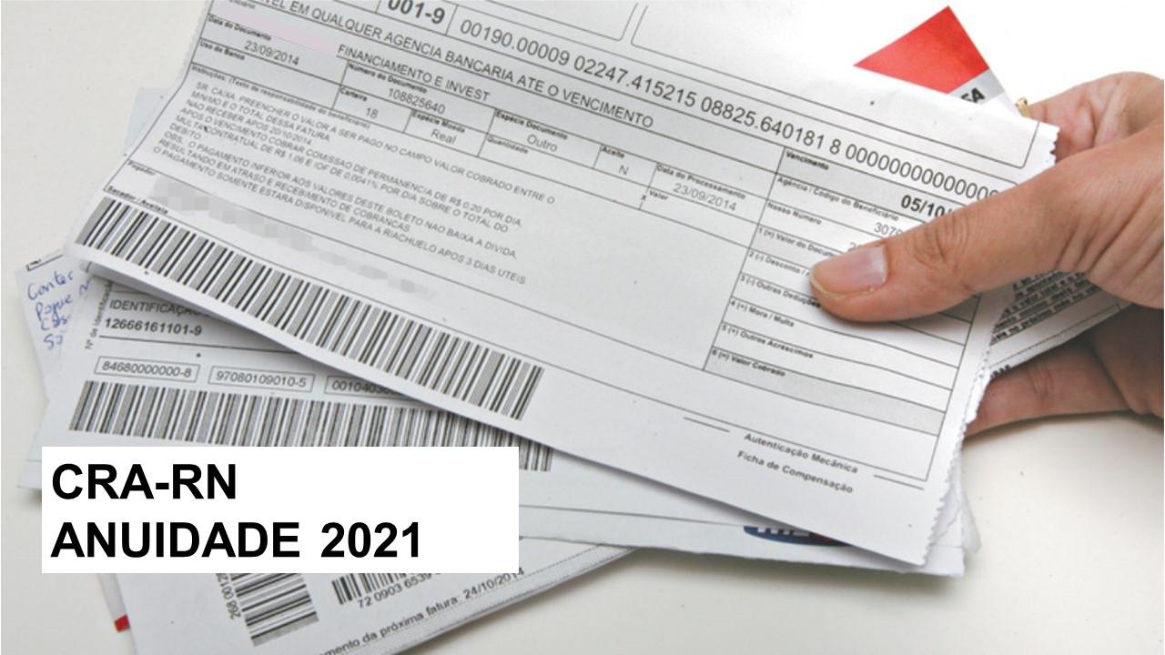 CRA-RN libera boletos da anuidade 2021 no início de janeiro